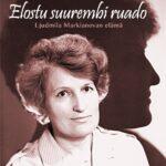 Kirjan kansi, jossa naisen kuva ja taustalla profiilni siluetti.